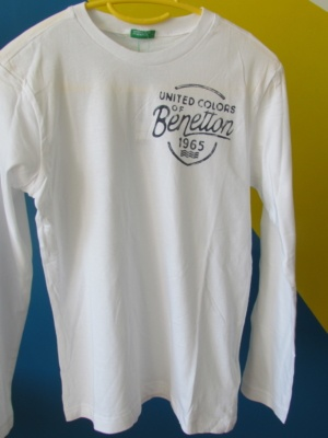 tee shirt blanc enfant benetton
