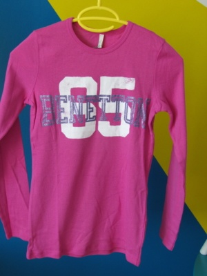 tee shirt benetton rose