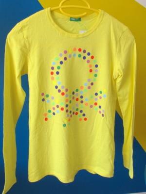 tee shirt benetton jaune